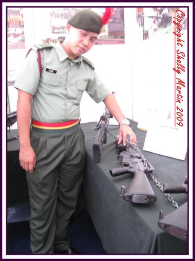 This is M-16 with Grenade Shooter..