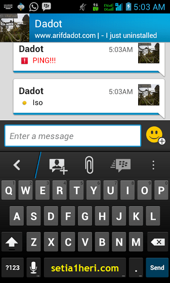 chatting di BBM android