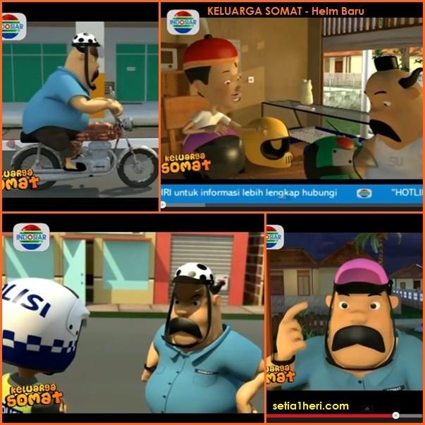 Belajar pake helm dari Keluarga Somat #safety riding