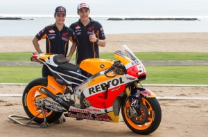 marquez dan pedrosa unveil new 2015 livery in Bali