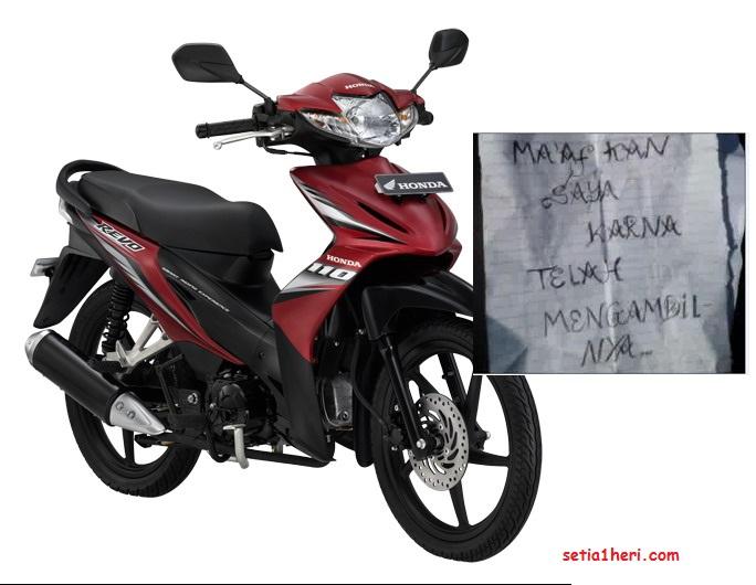 surat permohonan maaf pencuri motor di sleman