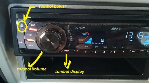 setting jam pada tape mobil AVT AV-R9077
