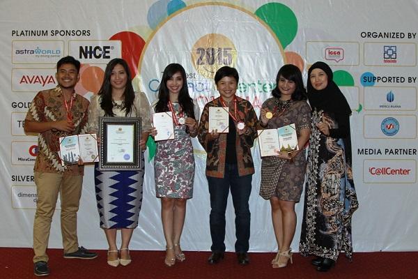 AHM Raih 6 penghargaan dalamThe Best Contact Center Indonesia 2015