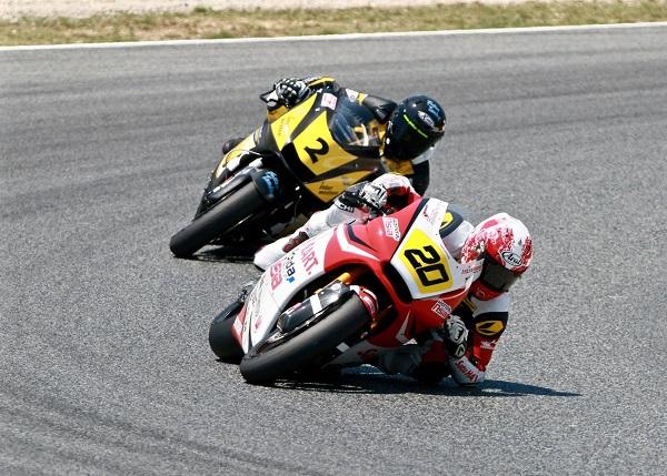 Dimas Ekky Pratama membalap di CEV Spanish Championship kelas Moto2 European Championship 2015 (1)