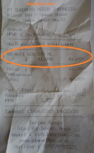 harga cairan anti bocor ban tubeless di planet ban gresik juni 2015