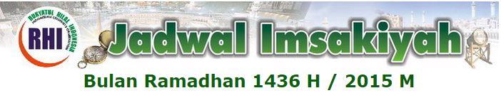 jadwal imsakiyah 1436 H tahun 2015