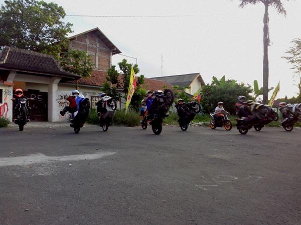 Latihan freestyle di Wawan Tembong Training School di Salatiga Jawa Tengah