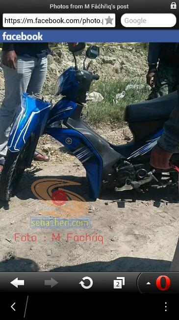 Yamaha Force mengalami patah garpu di Gresik