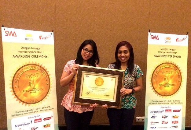 Yamaha raih Word of Mouth Marketing Award 2015 kategori sport untuk V-Ixion