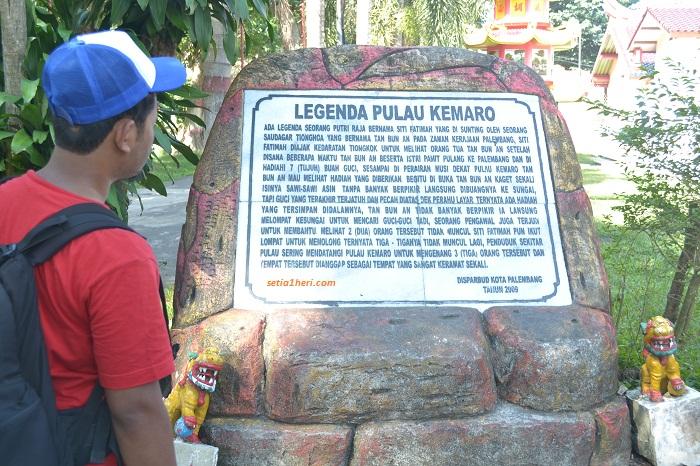 batu legenda pulau kemaro di sungai musi palembang