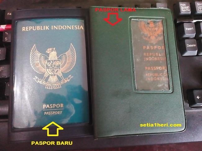 fisik paspor baru tahun 2015 dan paspor lama