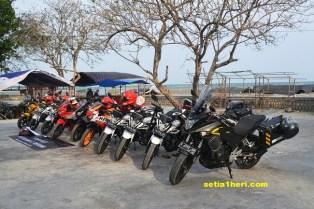 gathering big bike honda di pantai camplong 2015