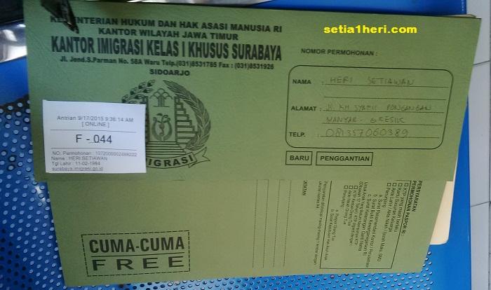 map pengurusan paspor diberikan gratis