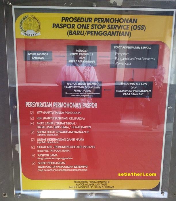 prosedur pengurusan paspor manual di kantor imigrasi klas 1 khusus surabaya