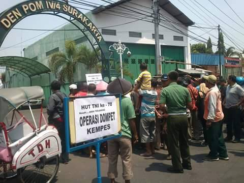 operasi dompet kempes dalam rangka HUT TNI ke-70