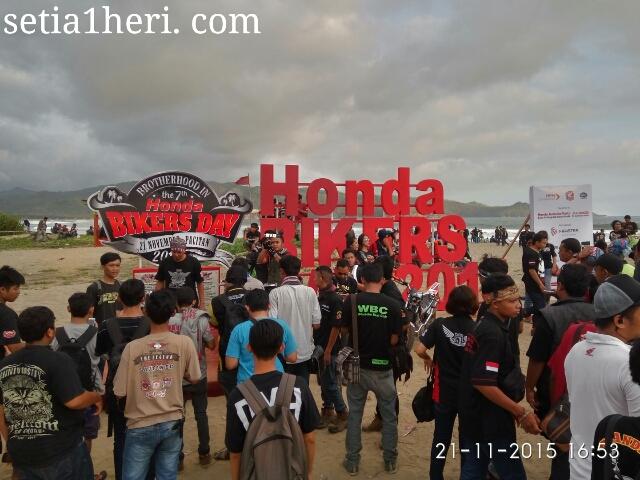 venue Honda Bikers Day 2015 di Pacitan