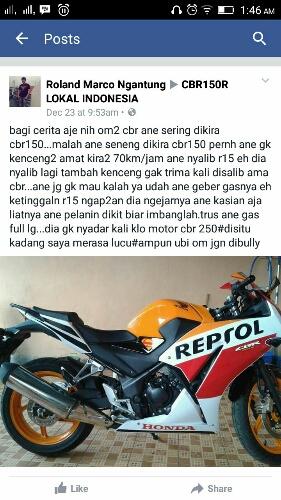 Honda CBR250 dikira CBR150