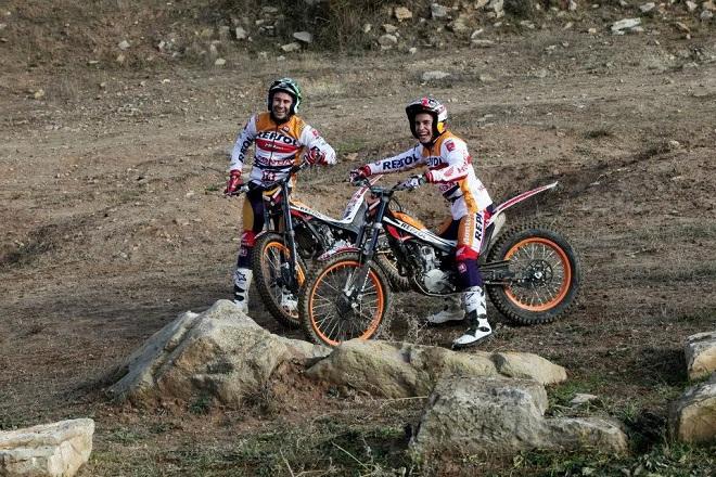 Marc Marquez naik motor Trial Honda