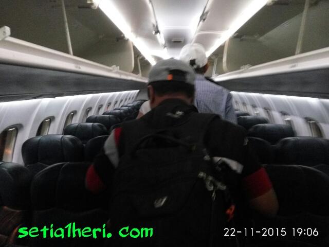 interior pesawat ATR Wings Air Surabaya-Jogja