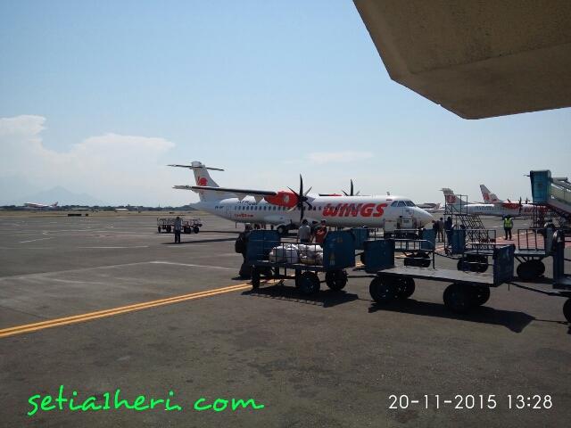 pesawat ATR Wings Air jurusan Surabaya-Jogjakarta