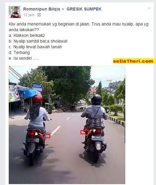 waspada tingkah polah emak-emak di jalan