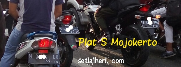 Plat S wilayah Mojokerto