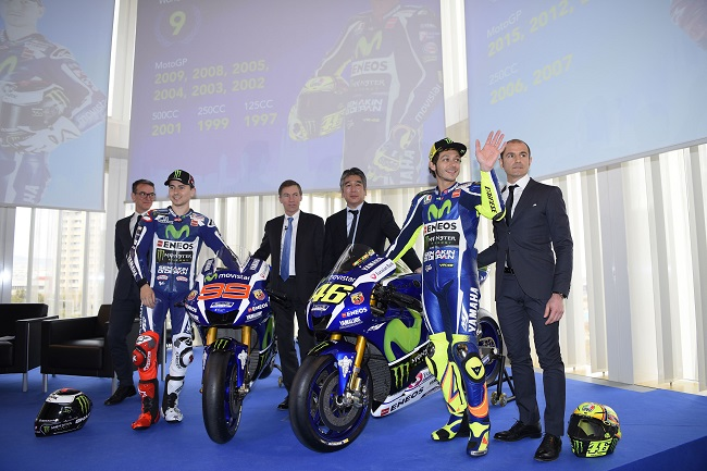 The 2016 Yamaha YZR-M1 revealed in Barcelona, Spanyol  with VR46 and JL99