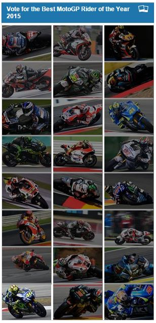 The Best Moto GP Rider of the Year 2015 by crash net