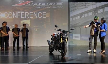 Yamaha Xabre ditunggangi Valentino Rossi pada peluncuran di Bali tanggal 26 januari 2016 (2)