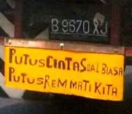 kumpulan tulisan lucu di pantat truk Pantura dan Indonesia tahun 2016~11