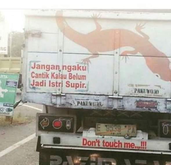 Kata kata truk buat sang istri