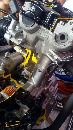 All New Satria F150 injeksi tahun 2016 dan daleman mesin alias cut engine (8)