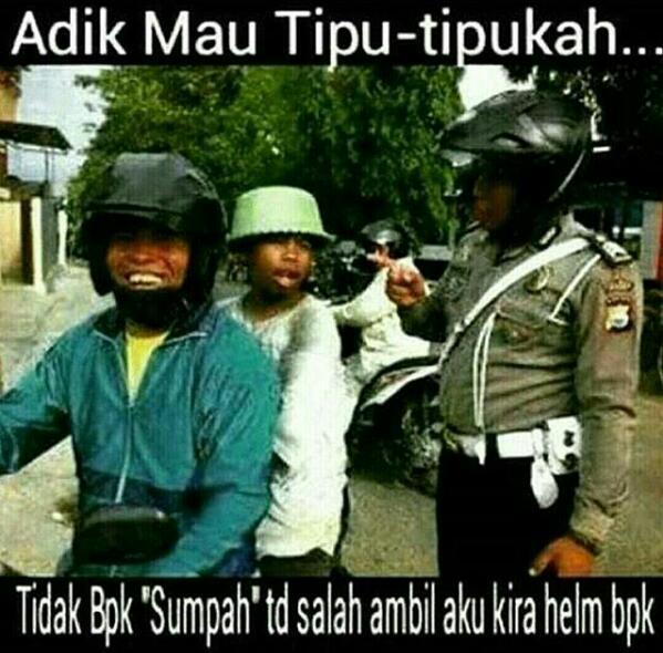 tilang helm bukan SNI
