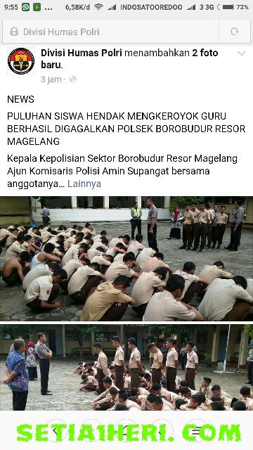 siswa MTS N Magelang mengeroyok guru BK