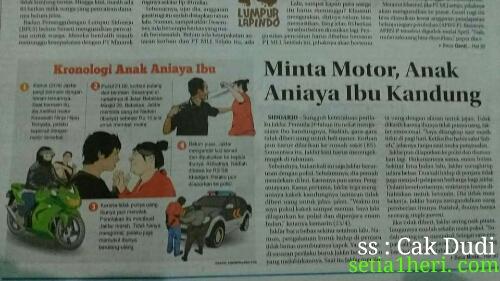anak hajar ibu di Sidoarjo karena ingin memiliki motor Kawasaki