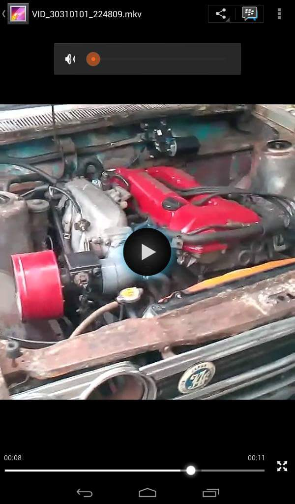 penampakan mesin Datsun SR20