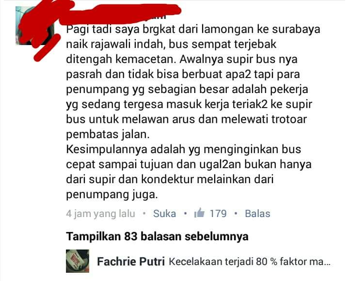 provokasi penumpang bus menjadi penyebab arogansi sopir bus ~01