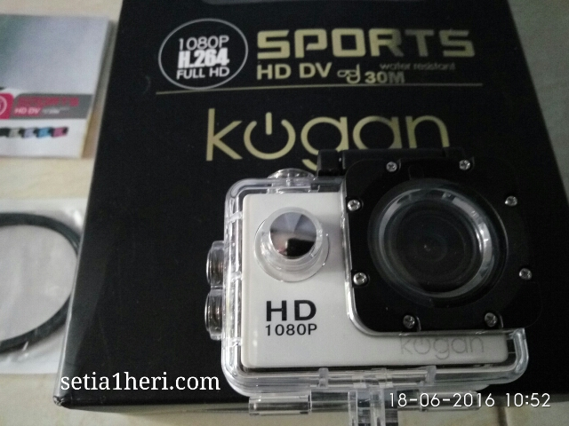 Action Cam murmer Kogan Sport HD 1080P (12 MP) versi 2016~05