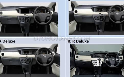 bagian dashoard Daihatsu Sigra warna putih tahun 2016