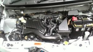 Gambar detail mesin Daihatsu Sigra Tipe R MT Deluxe warna putih (kasta tertinggi)