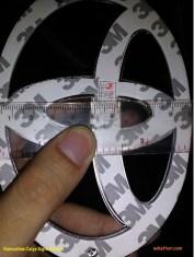 dimensi lebar logo toyota pengganti logo garuda di calya tahun 2016
