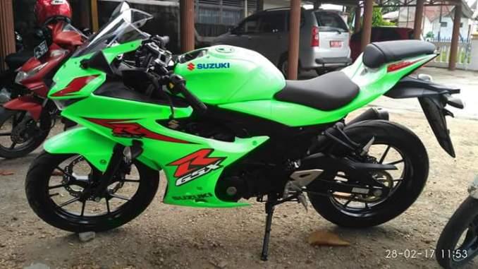 Modif Scotlite Hijau Muda Suzuki Gsx R150 Serasa Ninja