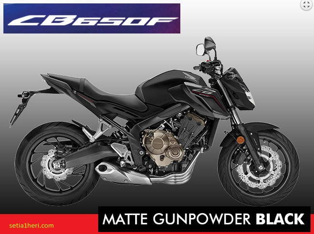 Honda CB650F tahun 2017 warna matte gunpowder black