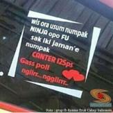 tulisan inspiratif stiker di kaca truk