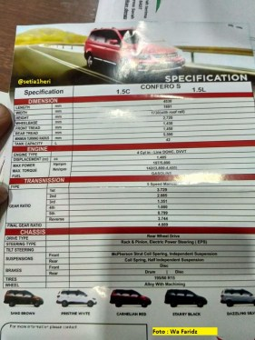 brosur spesifikasi mobil wuling confero s tahun 2017
