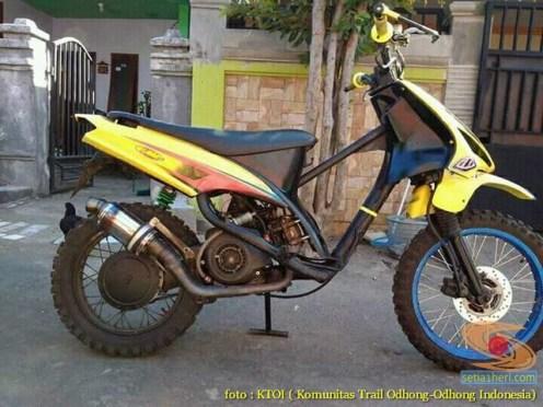Kumpulan gambar motor trail basis motor matic alias trail matic (1)