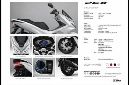 Spesifikasi, harga dan pilihan warna Honda PCX 150 lokal Indonesia tahun 2018 (9)