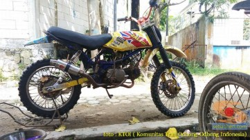 kumpulan foto honda win modifikasi trail