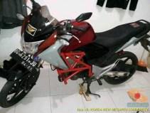 Kumpulan gambar frame slider alias tubular atau crash bar pada Honda New Megapro (8)