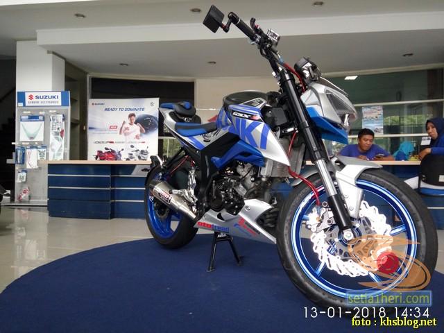 Modifikasi sadis Suzuki GSX S 150 dari Kota Pahlawan
